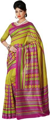 365 Labels Checkered Bhagalpuri Art Silk Sari