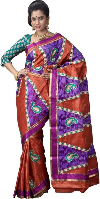 Ritoja Embriodered Mysore Handloom Art Silk Sari