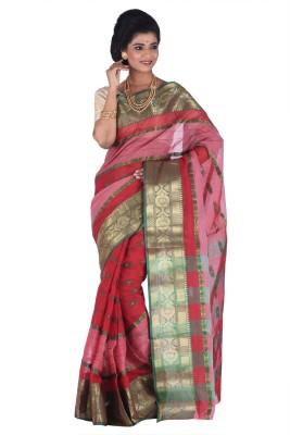 Madhushree Textiles Self Design Tant Cotton Sari