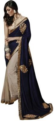 Aarrahh Self Design Bollywood Handloom Satin Sari