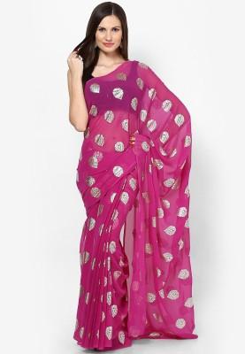 Prateek Retail Printed Fashion Chiffon Sari
