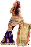 Right Cart Embroidered Bollywood Chiffon...