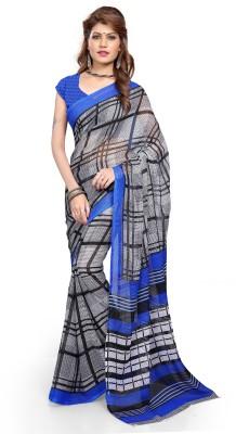 Aashita Checkered Daily Wear Georgette Sari