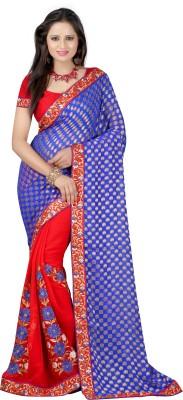 Majestic Silk Embriodered Fashion Georgette Sari