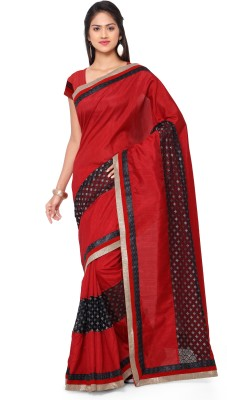 Sarvagny Clothing Self Design Fashion Art Silk Saree(Red) at flipkart