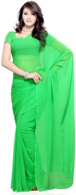 PRN Plain Bollywood Handloom Chiffon Sari