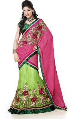 Moh Manthan Self Design Lehenga Saree Net Sari