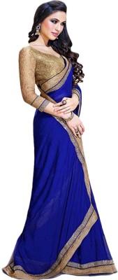 Anglefashion Embriodered Rajshahi Georgette Sari