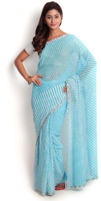 Kasturi-B Swadeshi Karigari Embellished Leheria Georgette Sari