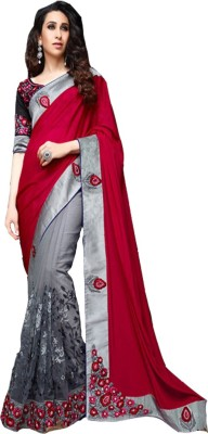 Aditya Creation Embriodered, Self Design, Solid Bollywood Georgette Sari