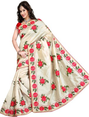Abretail Embriodered Assam Silk Banarasi Silk Sari