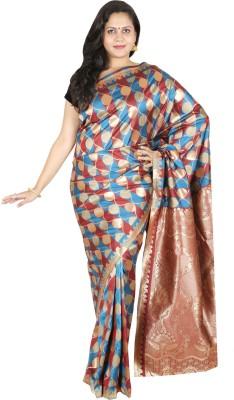 Sri Radha Krishna Textiles Geometric Print Fashion Silk Sari