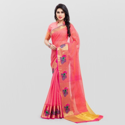 SARNGIN BOUTIQUE Embellished Bollywood Silk, Silk Cotton Blend Saree(Multicolor) at flipkart