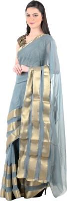 Zeroed Solid Mysore Georgette Sari