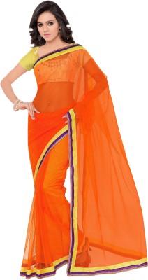 Sarovar Sarees Embriodered Bollywood Net, Chiffon Sari
