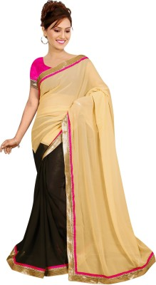 Shreesaimart Plain Daily Wear Georgette Sari
