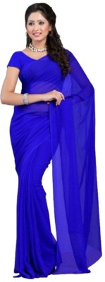 Navyou Solid Fashion Georgette Sari