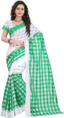 Aracruz Checkered Fashion Silk Sari
