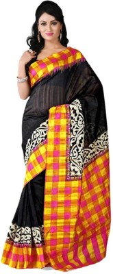 Increadibleindianwear Printed Bhagalpuri Handloom Art Silk Sari