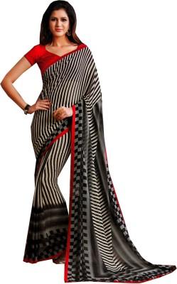Charu Boutique Striped Daily Wear Handloom Chiffon Sari