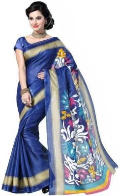 Arthenterprise Printed Bhagalpuri Silk Sari
