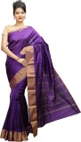 JISB Solid Kanjivaram Art Silk Saree (Pu...