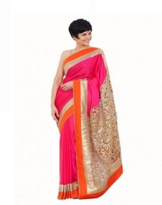 TirupatiBalaji Embriodered Bollywood Brasso Fabric Sari