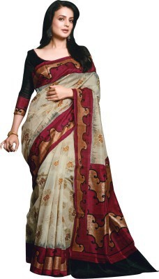 Kanishk Textile Printed Fashion Silk Sari