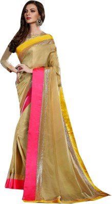 V-Style4u Embriodered Bhagalpuri Satin Sari
