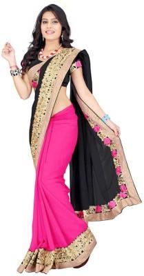 Geny And Geny Embriodered Fashion Handloom Georgette Sari