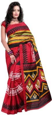 Ayushi Saree Printed Bhagalpuri Silk Sari available at Flipkart for Rs.359