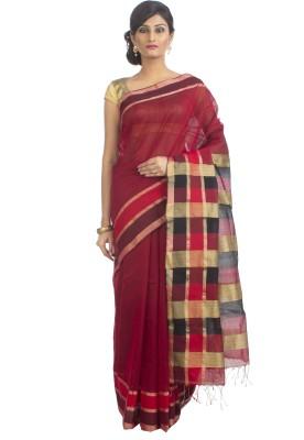 Cattalia Self Design Phulia Handloom Silk Cotton Blend Sari