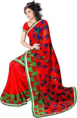 MannMohh Printed Daily Wear Georgette Sari