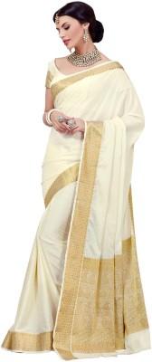 Rajshrifashions Embriodered Lugade Rayon Sari