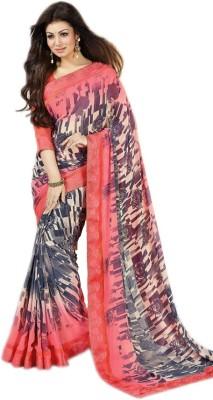 Brand Villa Printed Bollywood Georgette Sari