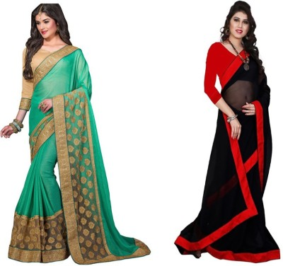 Red Carpet Embriodered Bollywood Georgette, Chiffon Sari