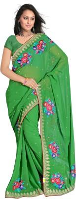 MGS Self Design Fashion Handloom Georgette Sari