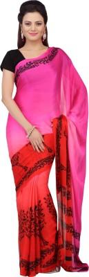 Jashn Floral Print Fashion Crepe Sari