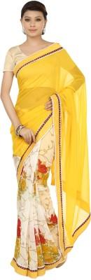 Sri Sai Vastra Floral Print Bollywood Silk Sari