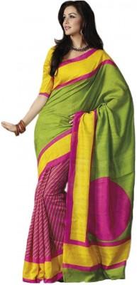 K3 Solid Bollywood Art Silk Sari