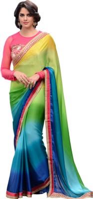 Shop Avenue Embriodered Fashion Art Silk Sari