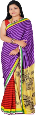Fashion Crush Printed Fashion Silk Sari