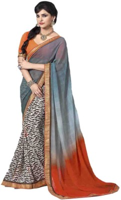 Fashion On Sky Printed Fashion Georgette Sari