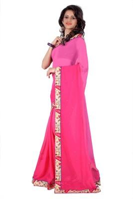 Sarovar Sarees Self Design Bollywood Georgette Sari