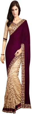 Style Code Embriodered Bollywood Velvet Sari