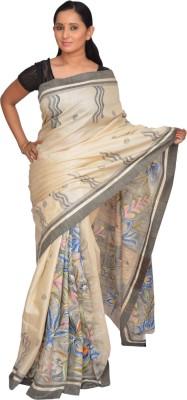 Siri Arts Printed Kosa Handloom Silk Sari