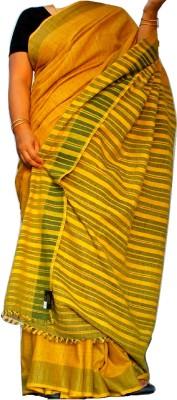 Eastern Crafts Striped Assam Silk Pure Silk Sari
