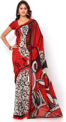 Anand Sarees Printed Daily Wear Synthetic Georgette Sari