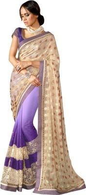Aagamanfashion Embriodered Fashion Synthetic Georgette, Jacquard, Synthetic Georgette Sari