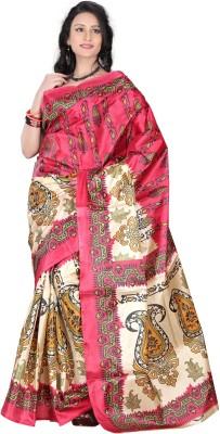 Moon Sarees Printed Murshidabad Handloom Silk Sari